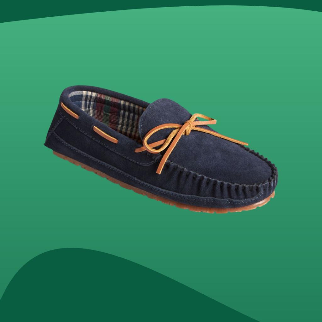 sperry navy slippers
