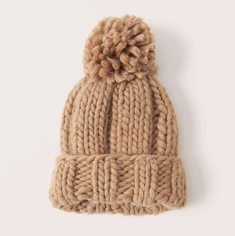 abercrombie chunky knit beanie