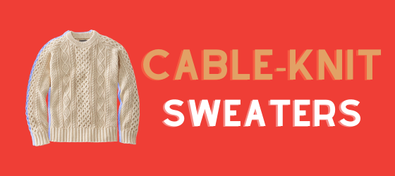 men's cable-knit sweaters