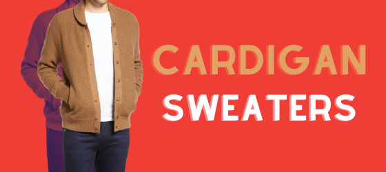 about men's cardigan sweaters