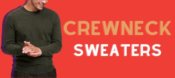 about men's crewneck sweaters