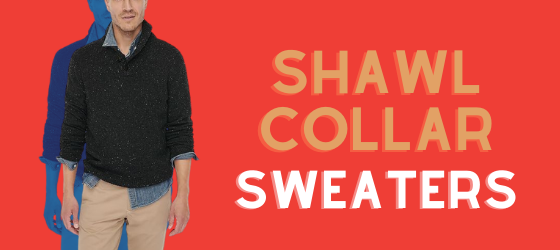 about men's shawl collar sweaters