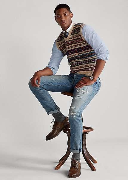 Polo Ralph Lauren men's sweater vest outfit