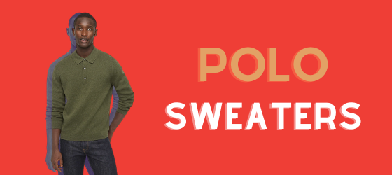 about men's polo sweaters