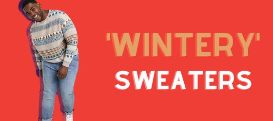 men's seasonal wintery sweaters
