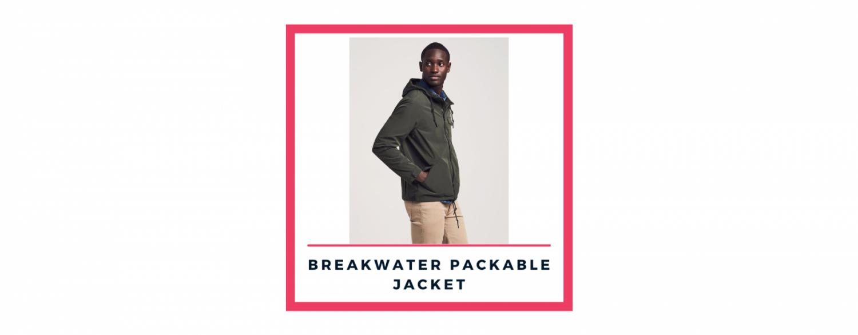Faherty breakwater packable jacket, 2021 men's fashion trends