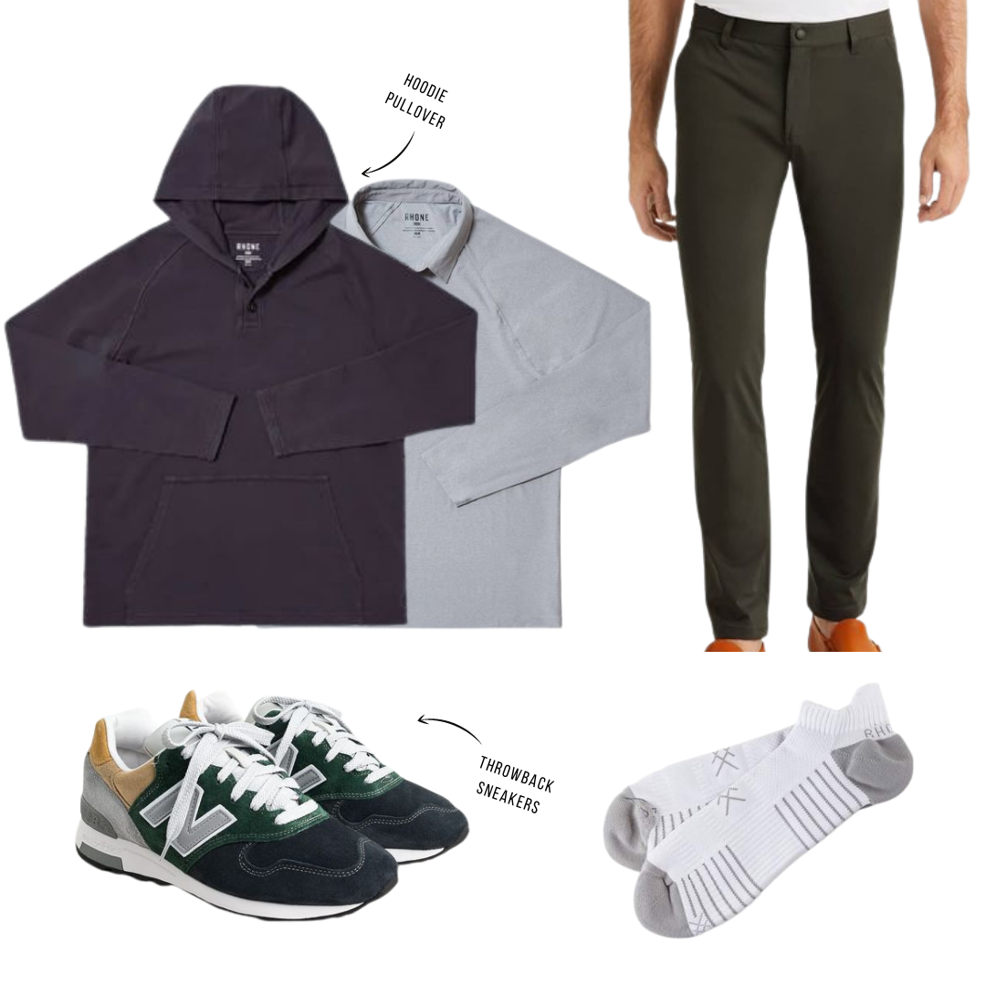 rhone commuter pants outfit