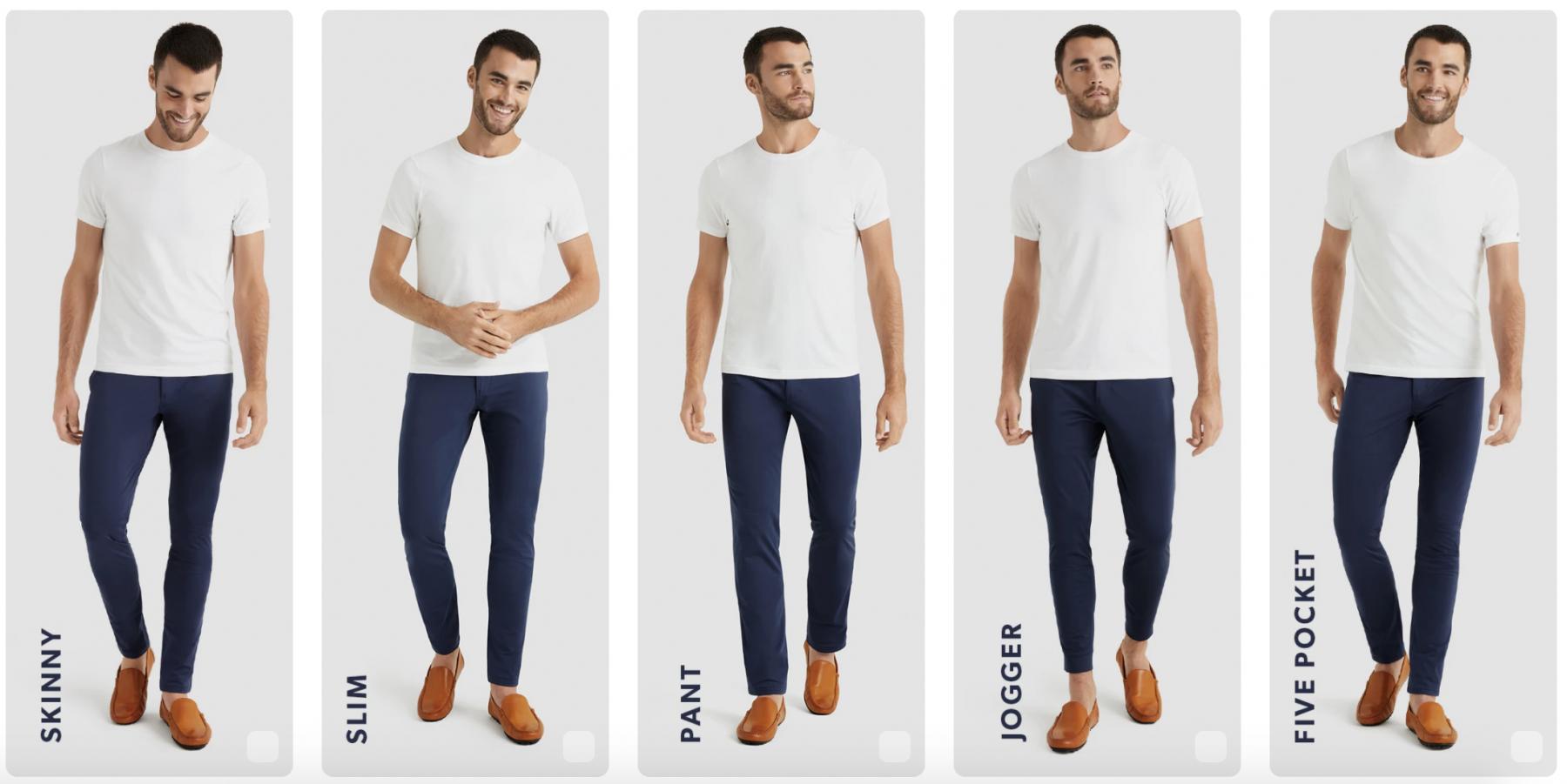 Rhone commuter pant styles