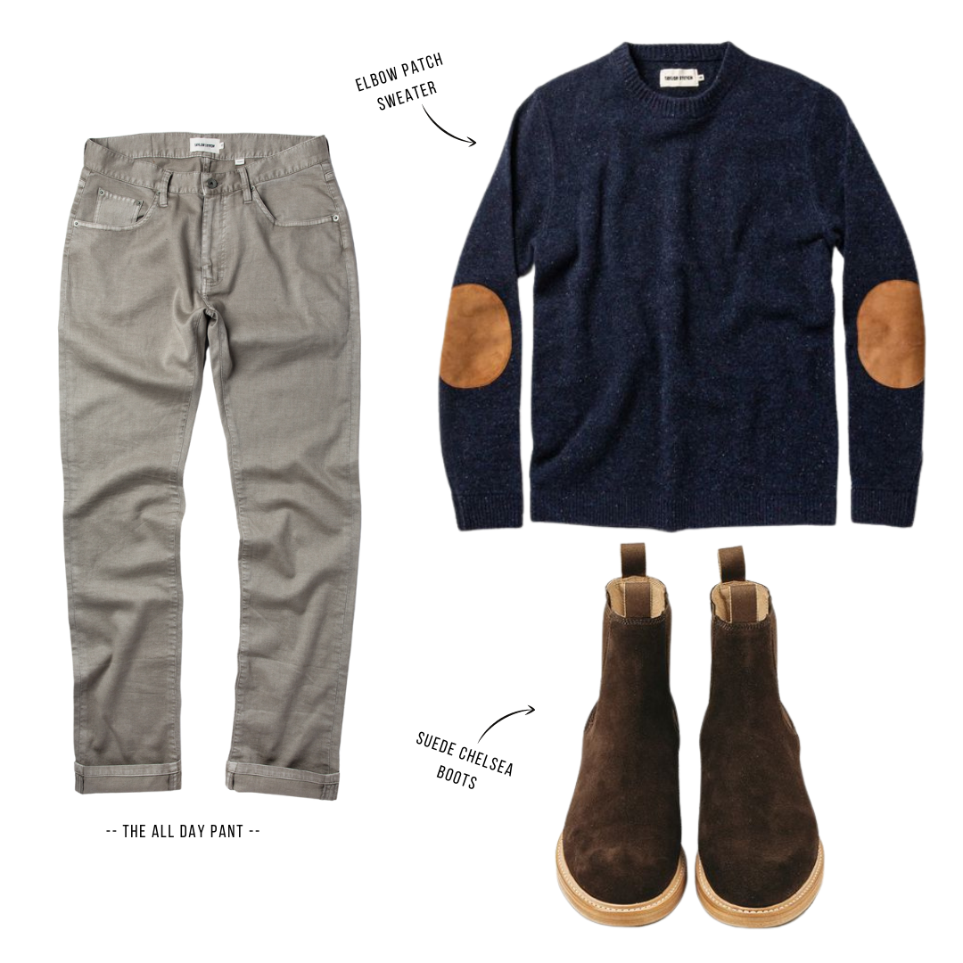 taylor stitch all day pants outfit