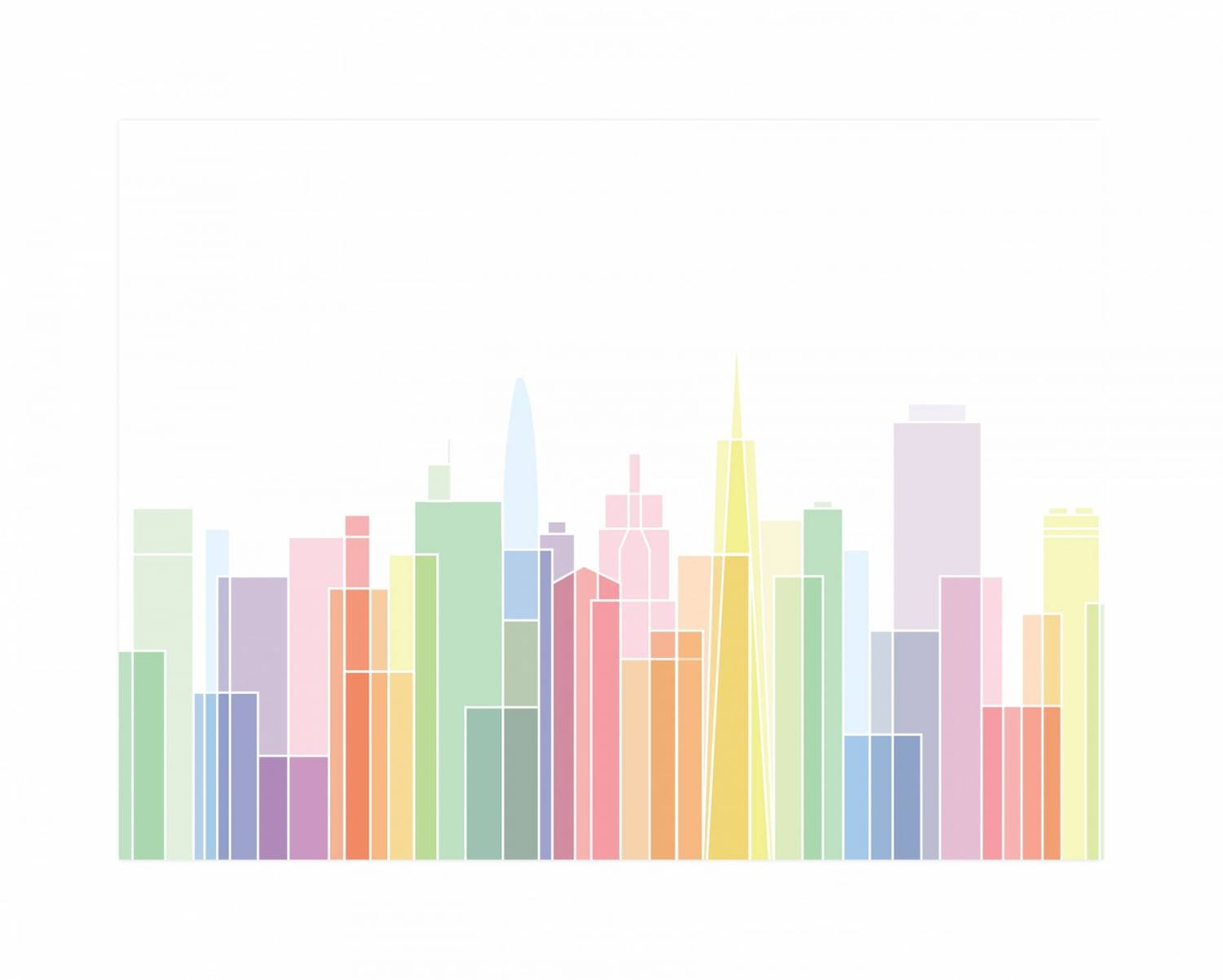 San Francisco Skylines by Jessie Steury on Minted