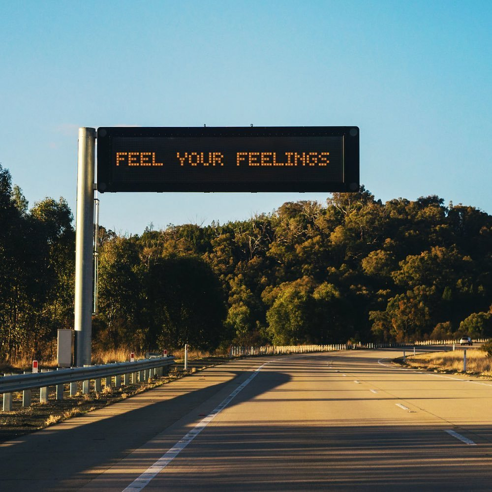 feel your feelings sign, therapy for mental health