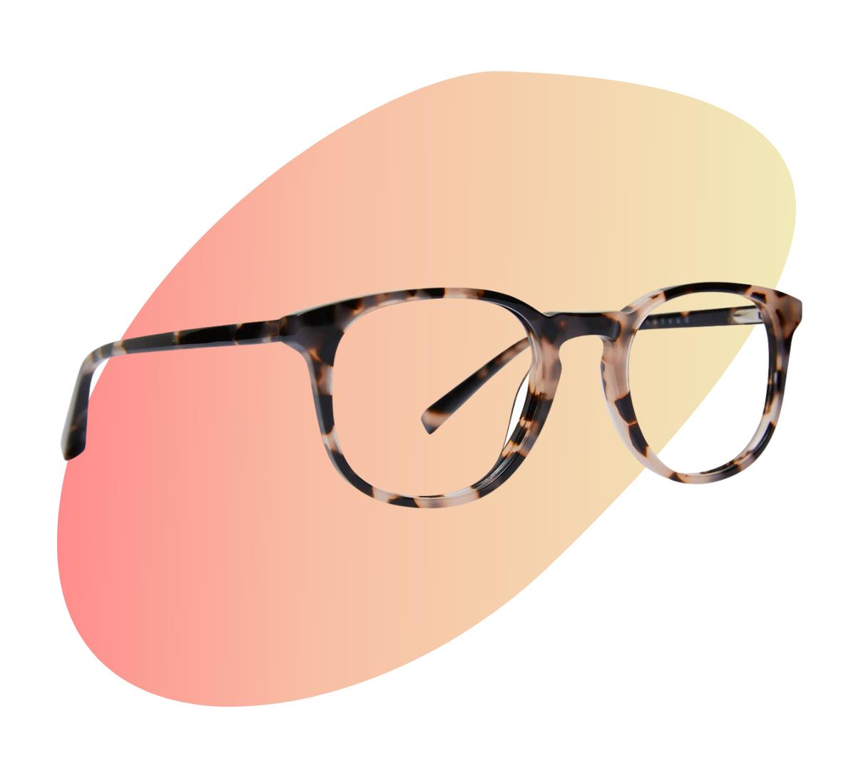 baxter blue Lane - Quartz Tortoise blue light glasses