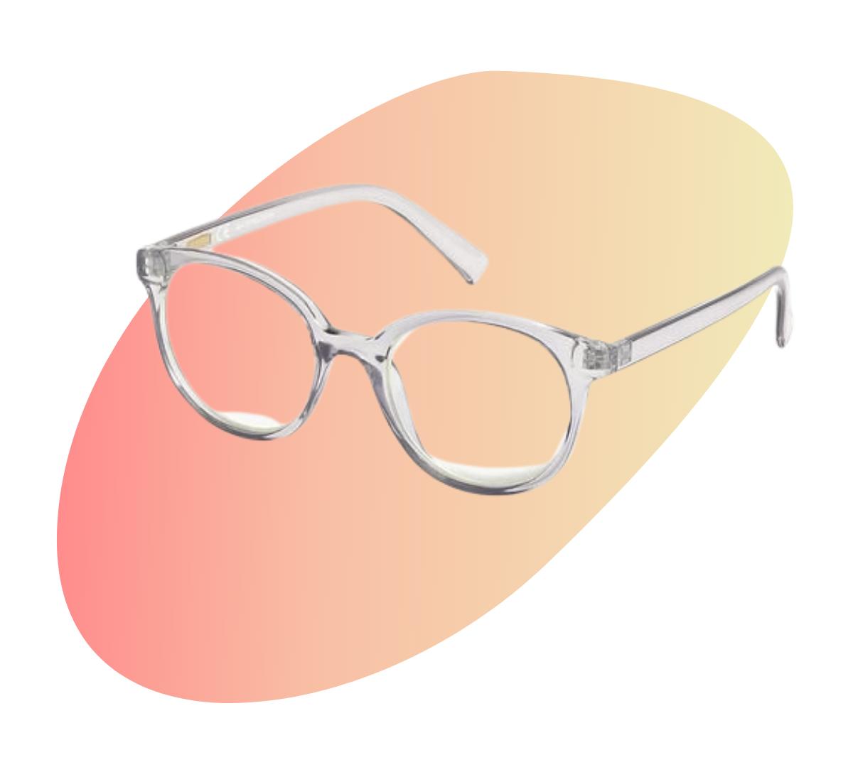 j.crew crystal clear Blue-light glasses