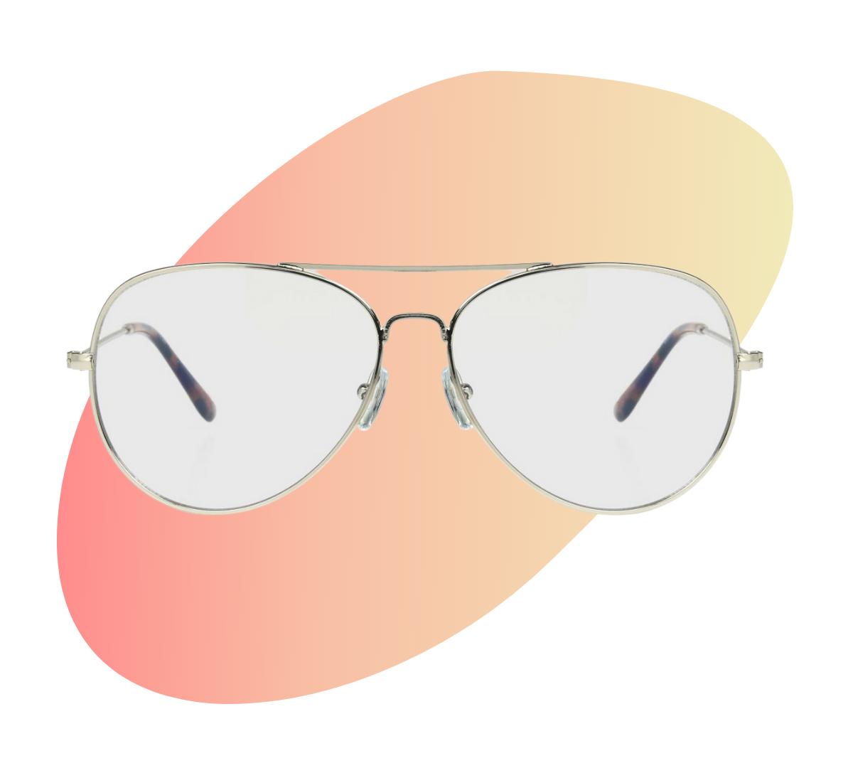 Target aviator blue light filtering glasses
