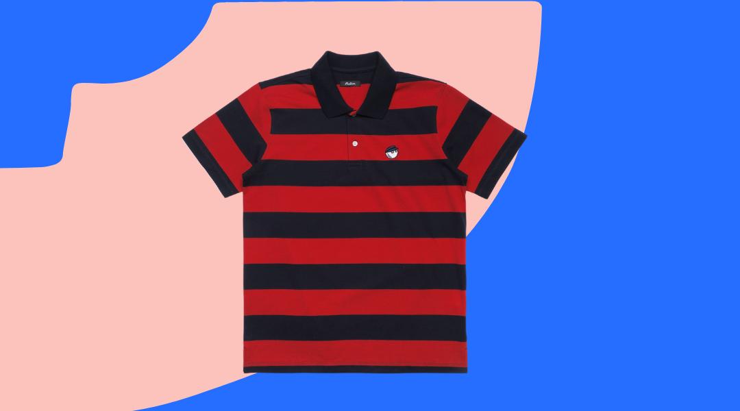 Malbon striped cod shirt