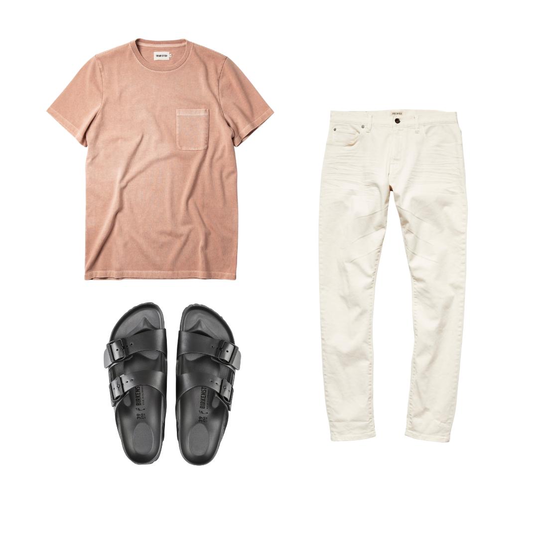 birkenstock sandals outfit for men