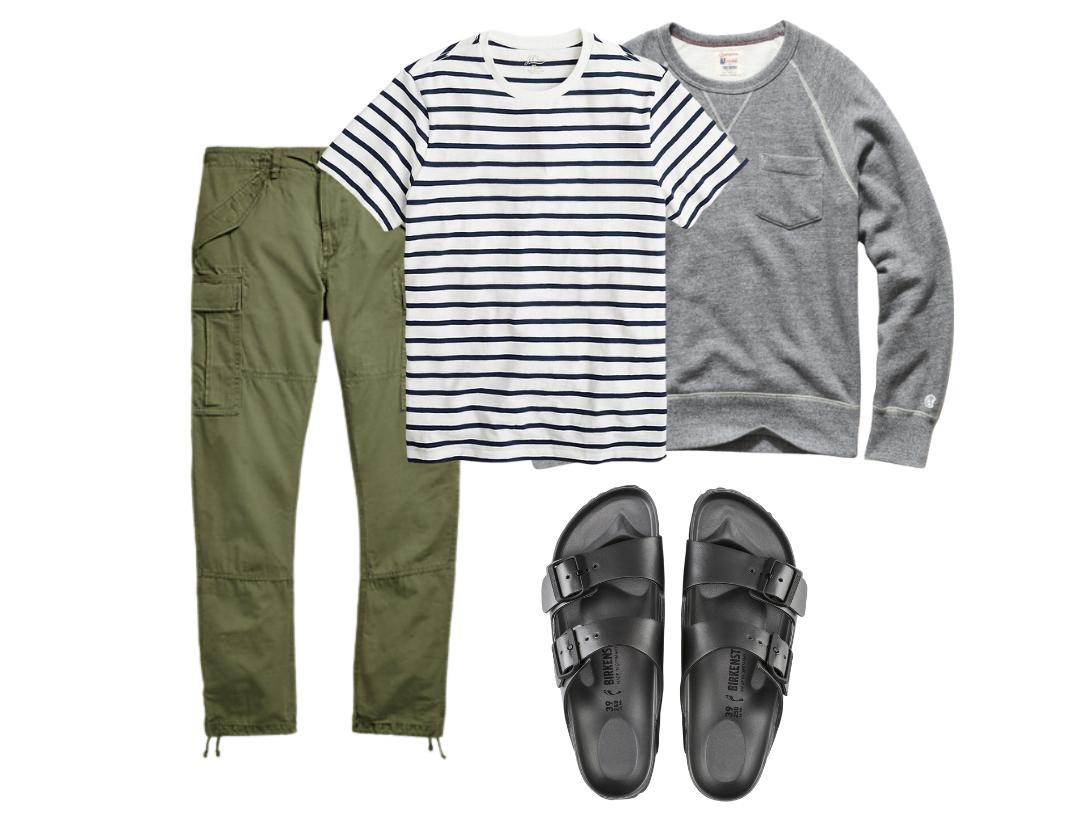 men's birkenstock sandals outfit