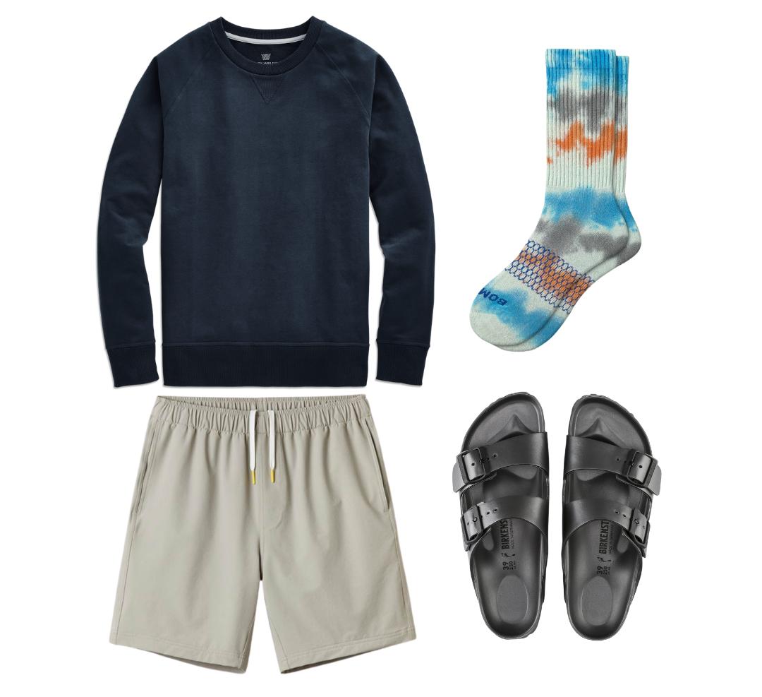 birkenstocks outfit for men