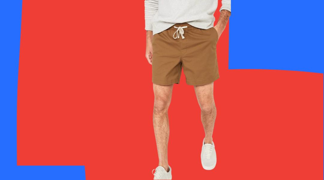 old navy twill jogger shorts