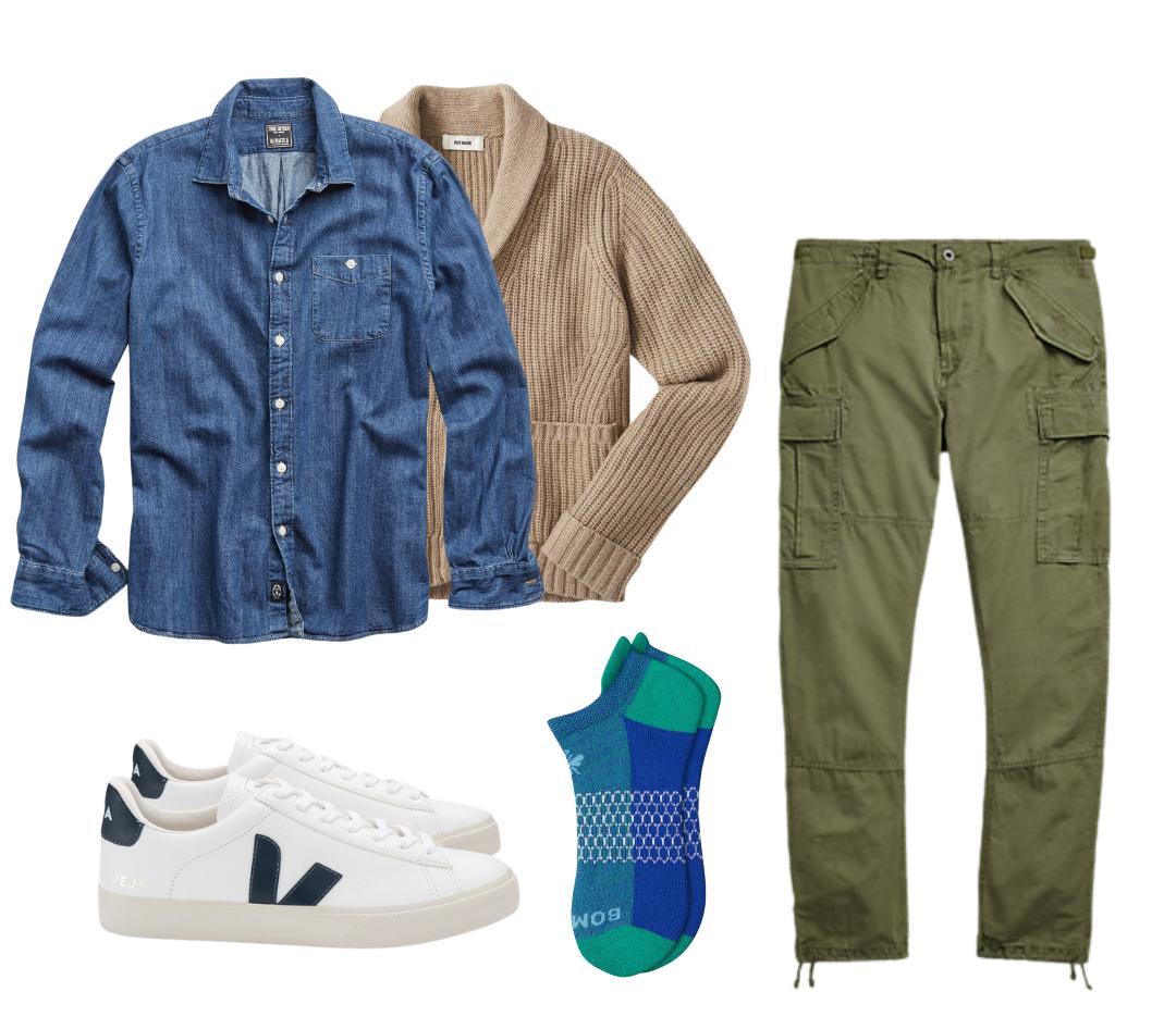 how to wear men's denim shirt, men's denim shirt outfits