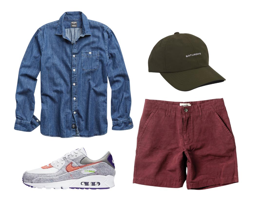 men's denim shirt outfits