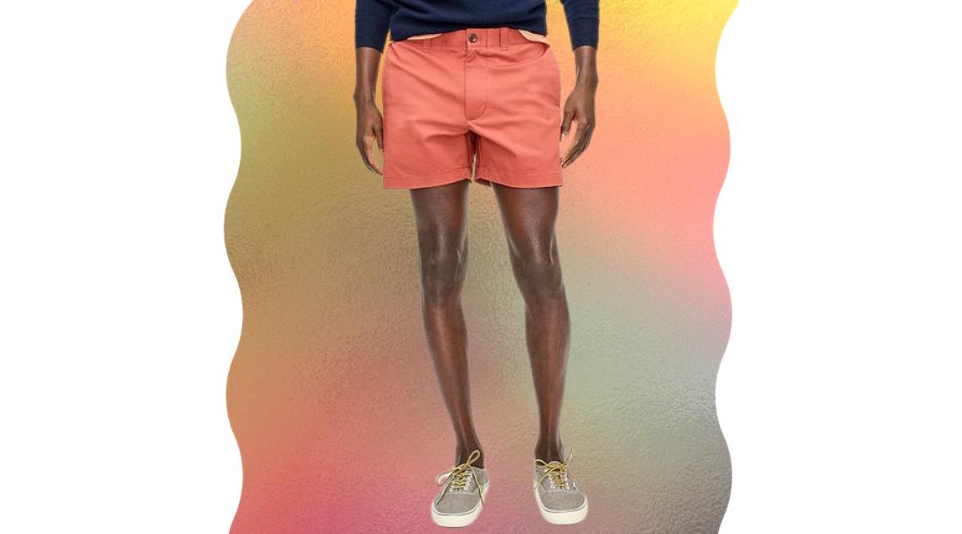 j.crew 5-inch chino shorts