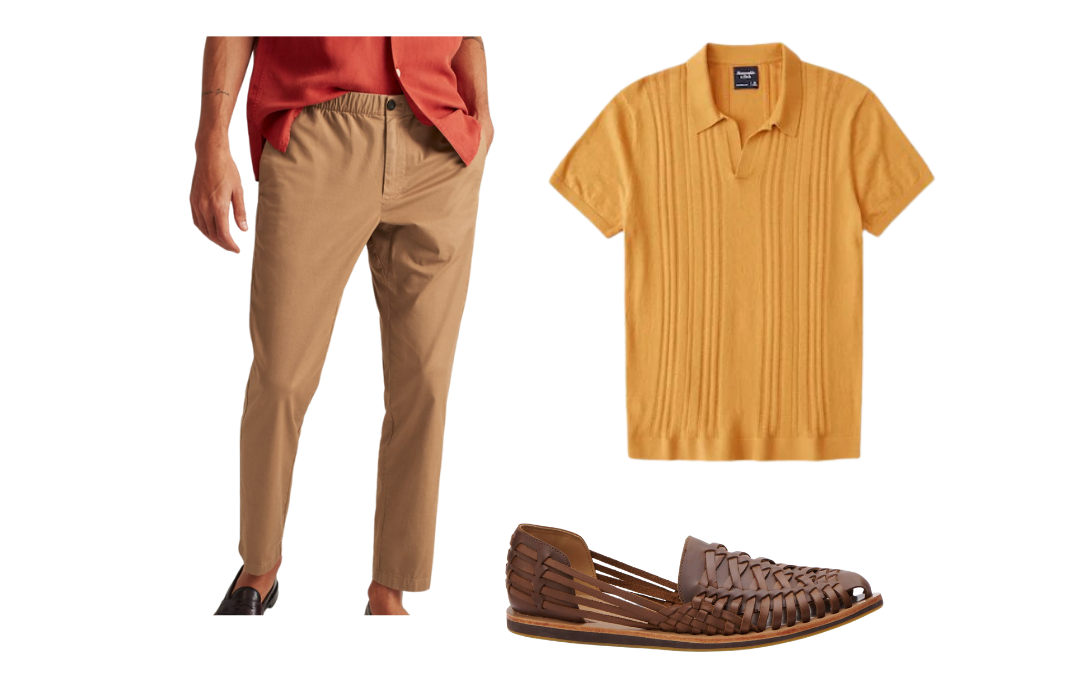 how to wear a knit polo shirt