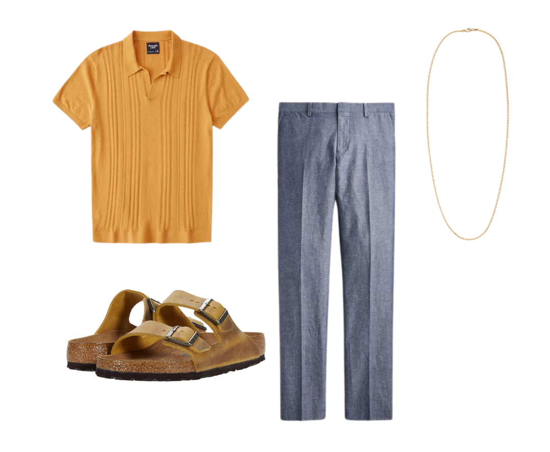 men's knit polo shirt outfits