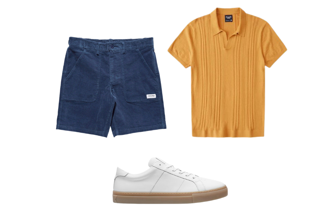 knit polo shirt outfits