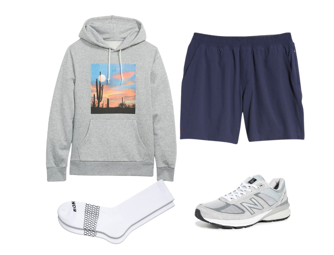 men's graphic hoodie outfit