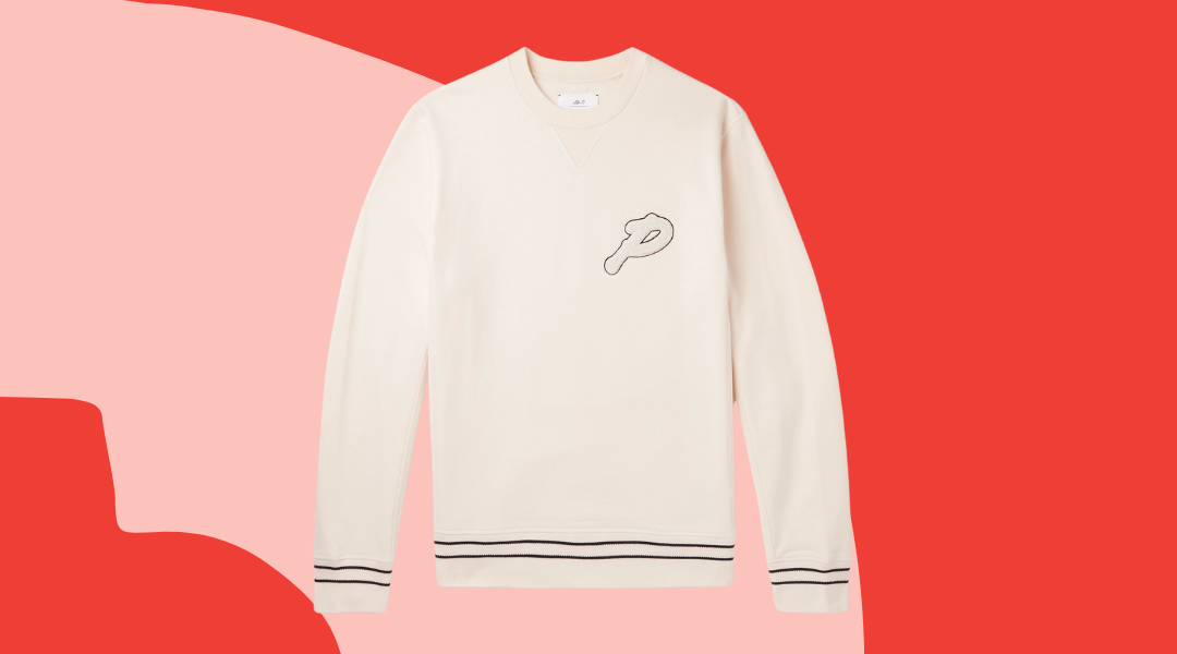 Mr Porter Logo-Appliquéd Cotton-Jersey Golf Sweatshirt