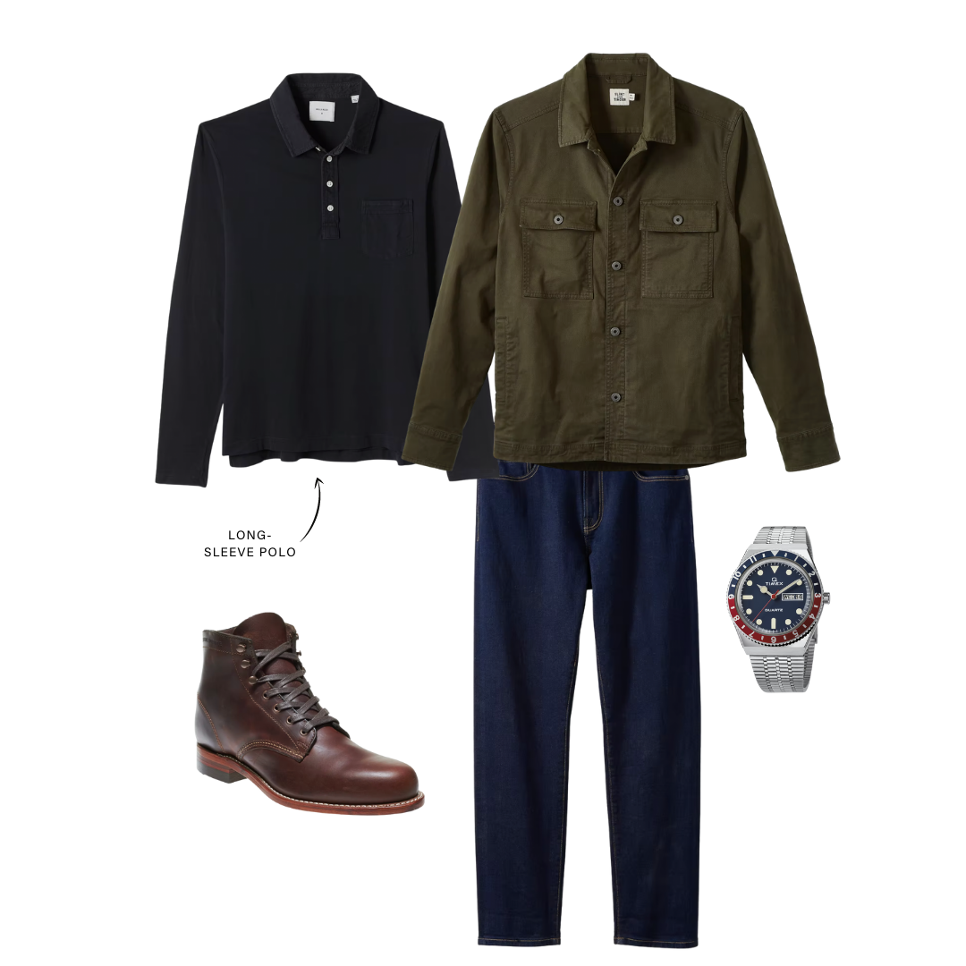 men's elevated casual outfit with boots