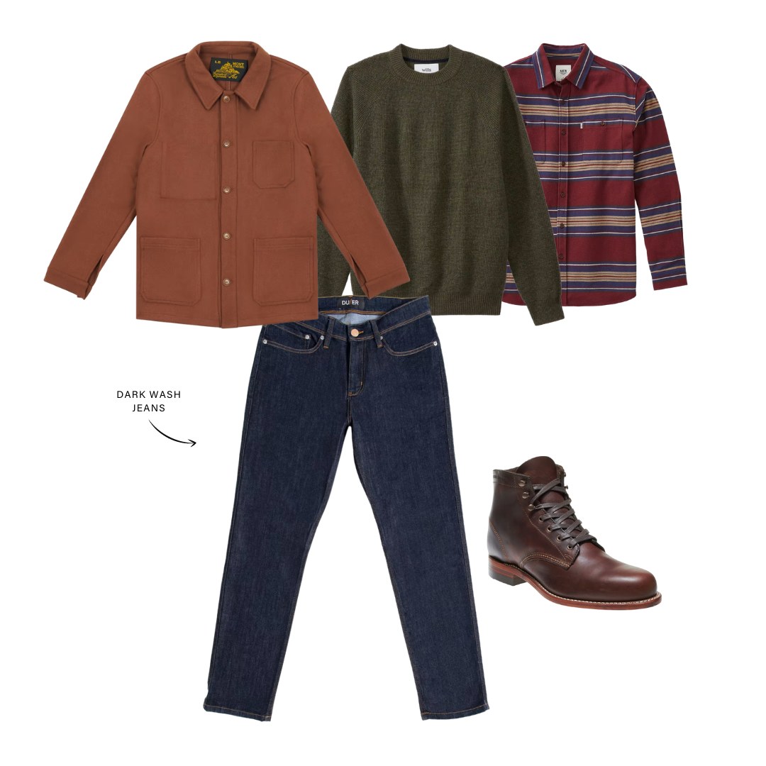 men's outfit with layers