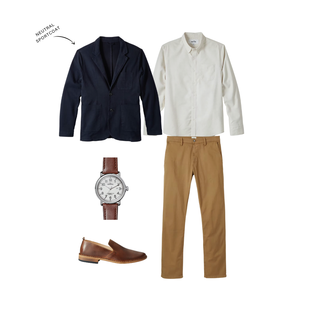 elevated casual outfit for men