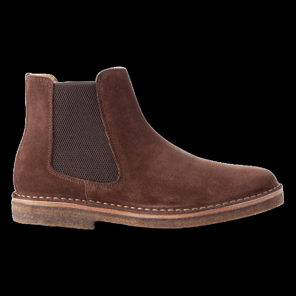 Astorflex brown suede chelsea boots