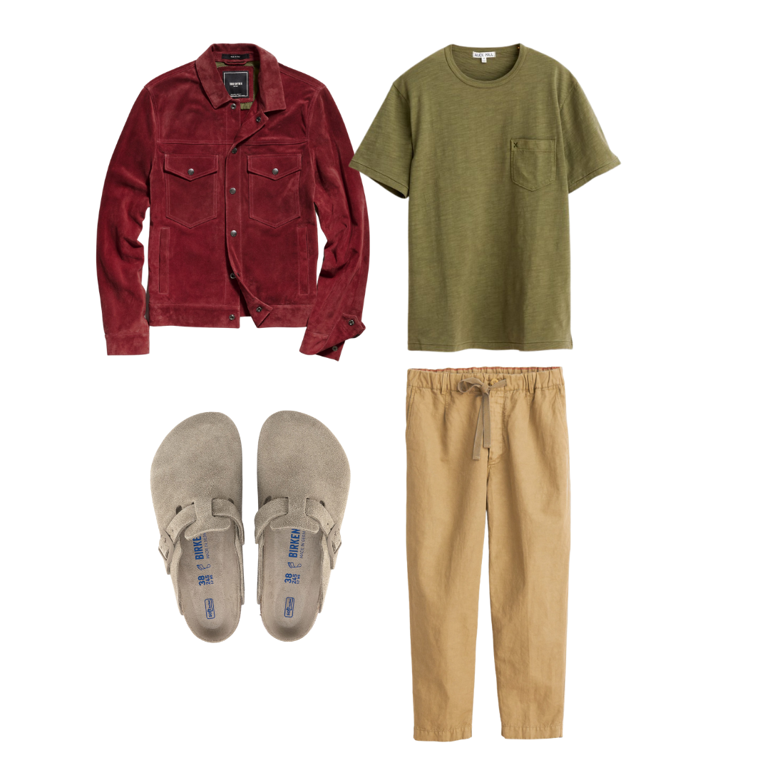 men's drawstring pants outfit for work