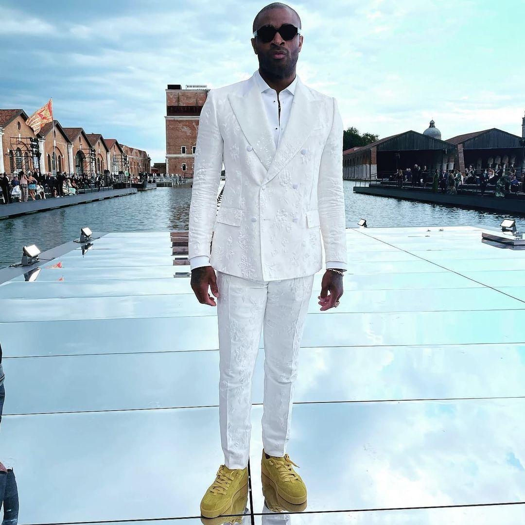 PJ Tucker white suit