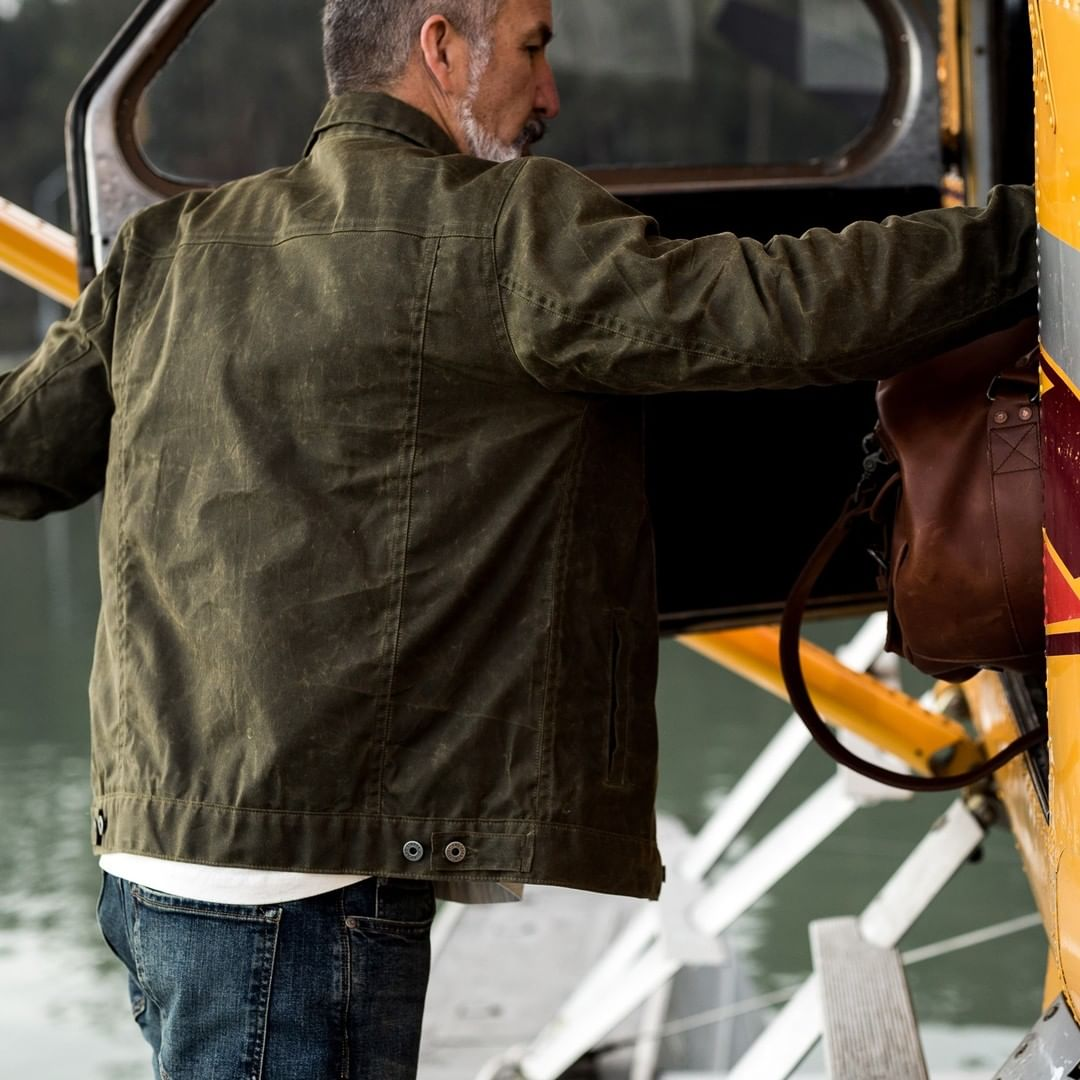 Flint and Tinder Flannel-lined Waxed Trucker Jacket, Huckberry waxed trucker jacket review