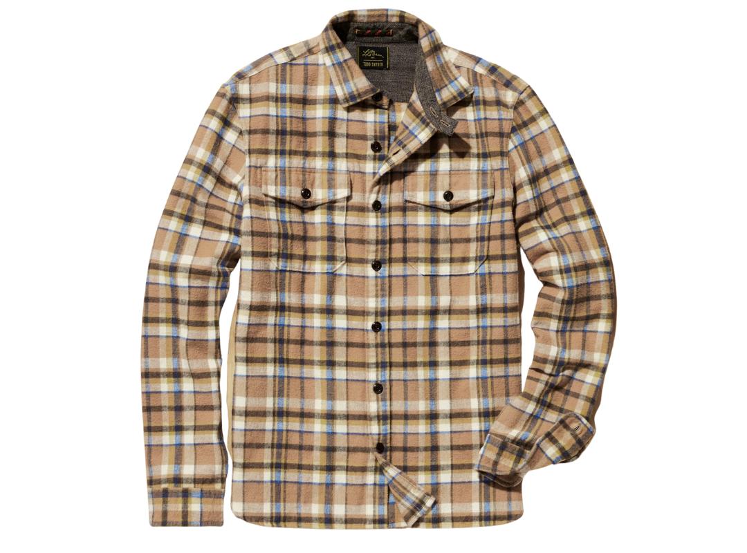 L.L. Bean & Todd Snyder chamois shirt, best men's plaid shirts