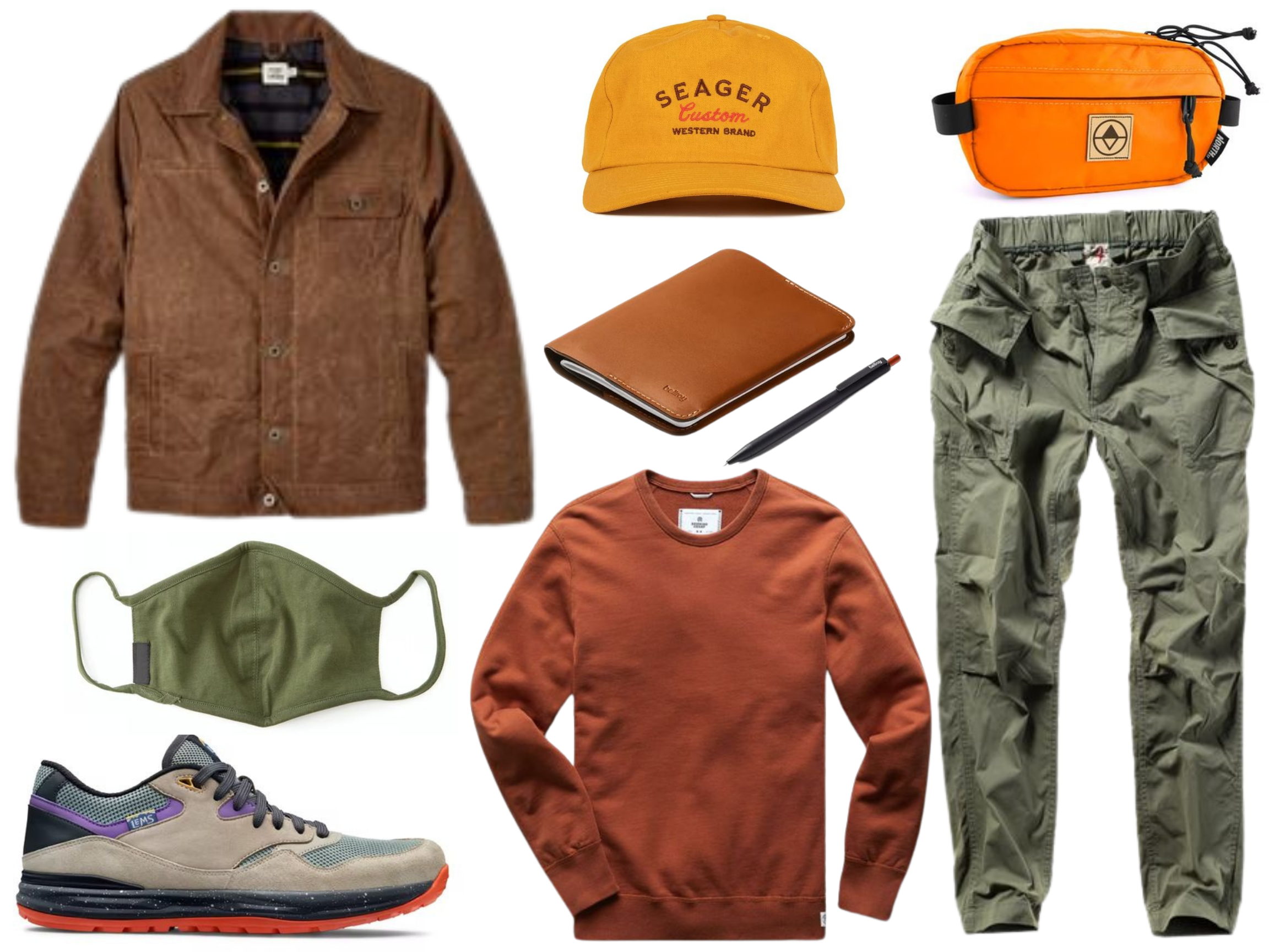 mens waxed trucker jacket outfit